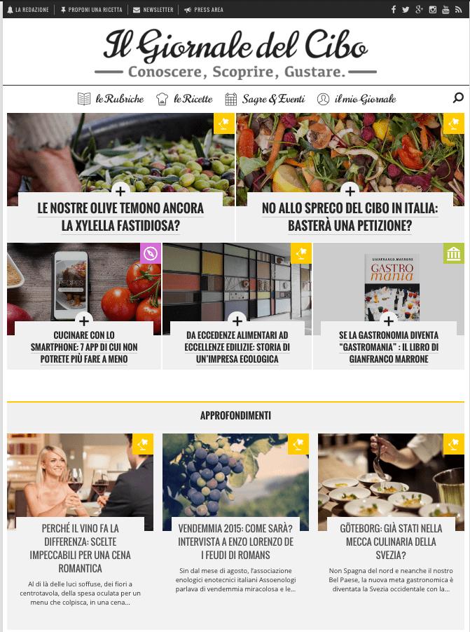 Il Giornale del Cibo Home page