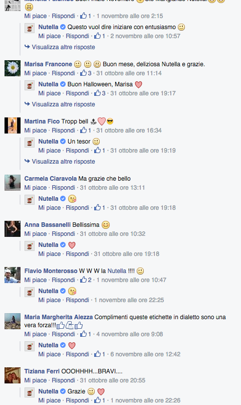 Commenti post Nutella