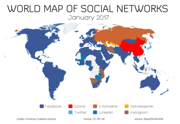 social network nel mondo