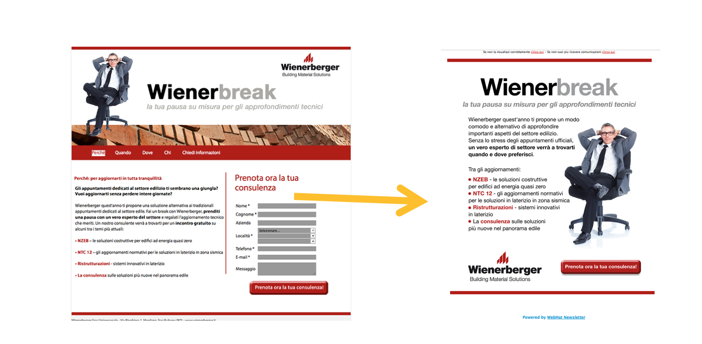newsletter efficace landing page